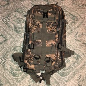 Camouflage Military Style Backpack